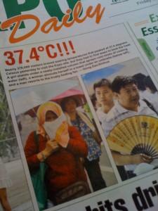 37 Grad - eher durchschnittlich an einem Shanghaier Sommertag