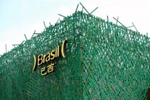 Von uns zwar nicht besucht, aber dennoch schön anzusehen: Brasiliens Expopavillon.
