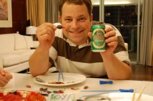 Bier aus Japan, Sushi aus China und René aus Deutschland