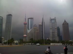 Bedrohliches Bild: Typhoon über Shanghai