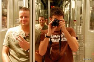 Mit Joe im Fahrstuhl - das Ergebnis: Blaue Flecken.