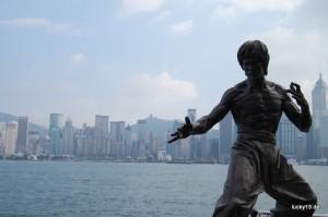 """""""Bruce Lee"""" - chinesische Filmlegende auf dem """"Movie Walk"""""""