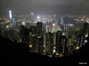 "Blick auf die Hong Kong Skyline vom ""Peak"""