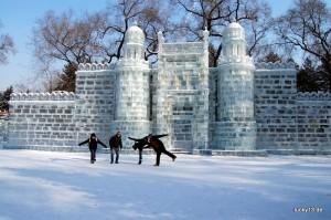Eisskulpturen im Zhoulin Park